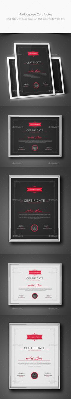 #Multipurpose #Certificates - Certificates # Stationery Download here: https://graphicriver.net/item/multipurpose-certificates/11629955?ref=alena994