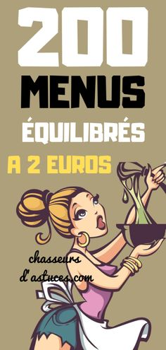 200 balanced menus at 2 euros - Euro, Healthy Breakfast Recipes, Easy Healthy Recipes, Junk Food, Girl Cooking, Batch Cooking, Food Design, Food Inspiration, Meal Planning