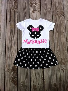 Girls Minnie Mouse outfit Twirly skirt & by EverythingSorella, $48.50