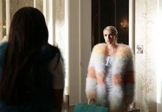 Chanel's Color Block Fur Coat  - Seventeen.com