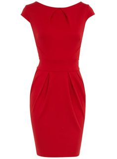 Red lampshade dress