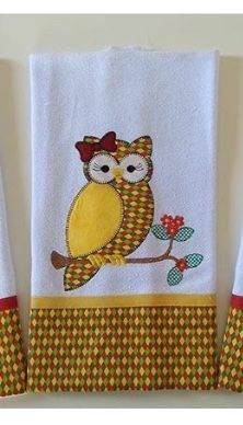 New embroidery christmas towels free pattern Ideas Applique Embroidery Designs, Machine Embroidery Applique, Applique Patterns, Quilt Patterns, Patch Quilt, Chicken Quilt, Elephant Quilt, Owl Patterns, Pattern Ideas