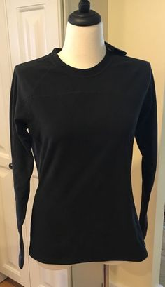 Womens Eastern Mountain Sports Velocity Black Long Sleeve Fleece NWT Size Large…