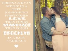 sweet maternity pics / baby announcement