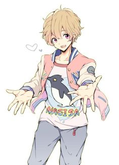 """ Work by さ :) "" Chica Anime Manga, Anime Chibi, Kawaii Anime, Nagisa Free, Tamako Love Story, Splash Free, Free Eternal Summer, Free Iwatobi Swim Club, Kyoto Animation"