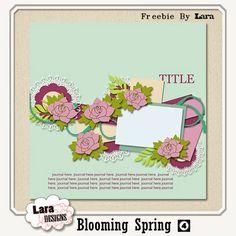 Lara's world: Freebie template: Blooming Spring04 by Lara