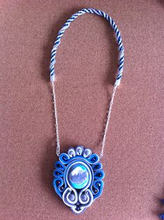 My first attempt at Polymer Clay soutache, quite pleases with how it turned out.