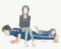 Takagi x nishikata Fan Art Anime, Anime Art Girl, Manga Art, Anime Couples Manga, Cute Anime Couples, Familia Anime, Anime Family, Anime Love Couple, Anime Kawaii