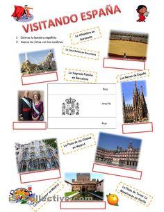 Visitando Espana trabajos - Hojas de trabajo de ELE gratuitas espagnol.hispania.over-blog.com
