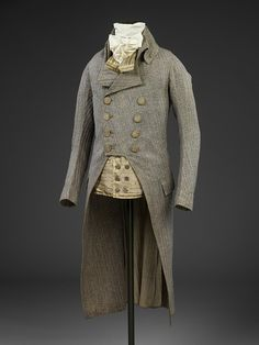 Wool coat, Britain, 1790 fold.