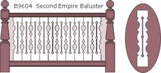flat baluster | Victorian Porch Railings with Flat Sawn Balusters in Western Red Cedar