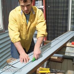 don't be intimated by vinyl siding. we'll show you how to install it and make repairs. you can save a lot of money by handling a vinyl siding project yourself. and you'll still get professional looking results. in this article, we'll show you everything you need to know to remove and install vinyl siding so it's watertight and looks great.