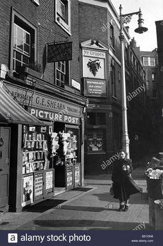 Newsagents & Pub, Shepherd Market, London, circa 1950