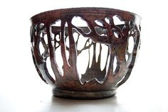 Ceramic ideas for vessels, good use of positive and negative space    http://www.etsy.com/listing/76411482/oval-raku-forest-form-free-domestic?ref=sc_3