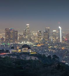 The Griffith Observatory Seattle Skyline, New York Skyline, Griffith Observatory, First Blog Post, Before Sunset, Downtown Los Angeles, Nevada, Places To Travel, Utah