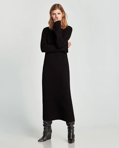 LONG RIBBED DRESS-View all-DRESSES-WOMAN | ZARA United States