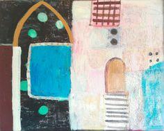 M. Kobus,nigh pool. abstract painting