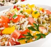 Rice Salad: Tired to cook up a meal ? You could probably go in for a Rice #Salad which is hassle free and makes for a satisfying meal.