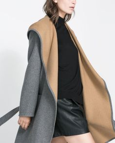 HOODED WOOL COAT - would be fantastic in the classroom