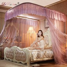 Cheap mosquito net, Buy Quality bed curtain directly from China net mosquito nets Suppliers: 2018 Noble Rail Mosquito Nets for King Queen Full Size Slide Guide Bed Curtains Sleeping Curtain 3 Openings for Double Bed