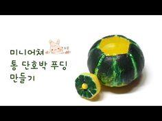 Miniature sweet pumpkin pudding air dry clay tutorial