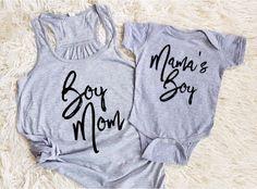 boy mom shirt mom of boys shirt mamas boy shirt mamas boy onesie matching family shirts matching mom and son shirts family set by EatSleepDrool on Etsy