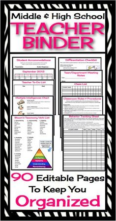 @ Hannah wood- would this help? Looks good - This fully editable and customizable Teacher binder / Organizer has absolutely everything you will need to start your year off organized and ready to roll! All you have to do is print, hole punch, and add to a three ring binder and viola, everything you need in one place!