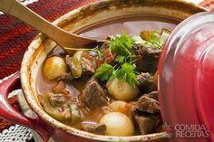 Receita de Sopa de músculo com legumes - Comida e Receitas