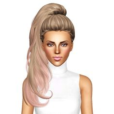 Newsea`s Sweet Villain hairstyle retextured by July Kapo for Sims 3 - Sims Hairs - http://simshairs.com/newseas-sweet-villain-hairstyle-retextured-by-july-kapo/