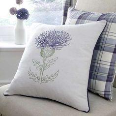 Mauve Balmoral Thistle Cushion