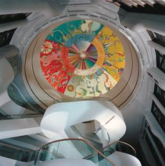 Alex Janvier (Dene Suline and Saulteaux): Morning Star mural, Canadian Museum of Civilization Native American Artists, Indigenous Art, First Nations, Civilization, Art Lessons, Art Boards, Morning Star, Artwork, Museum