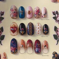 nails Wow Nails, Cute Nails, Pretty Nails, Japan Nail Art, Gucci Nails, Korean Nail Art, Happy Nails, Dream Nails, Fall Nail Designs