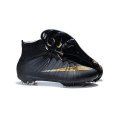 3fa3feabc2caf Comprar Nike Mercurial Superfly FG Negro Oro Botas De Futbol