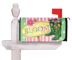 Bloom Boots Mailbox Cover-flower mailbox cover