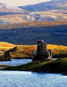 16th century,  Ardveck Castle Scotland