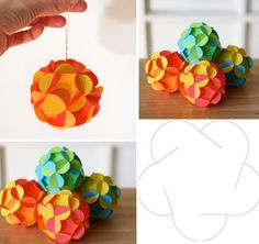 How to make 3d paper ball