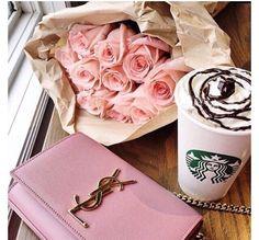 #starbucks #ysl #pinkrose