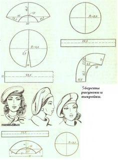 A lot of hats patterns. Нашьём шляпок к сезону милые дамы. Обсуждение на LiveInternet - Российский Сервис Онлайн-Дневников