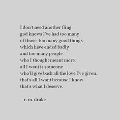 Amen! RM Drake hit the nail on the head here