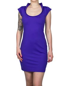 Purple entrapment dress from Cyberdog