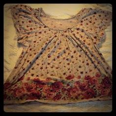 I just added this to my closet on Poshmark: Elle casual rose top. Price: $6 Size: L