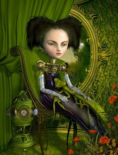 Ray Caesar and his surreal, strange women Sergio Mora, Ray Caesar, Gottfried Helnwein, Mark Ryden, Magic Realism, Pop Surrealism, Modern Surrealism, Lowbrow Art, Surreal Art