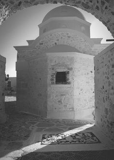 Greece, Island Anafi, black & white, greek church, Greece photography, Summer, Holiday, Santorini  images, Vacation photography, Thera, Thira, Travel and tourism, Caldera view, Photography by Anna Shulte