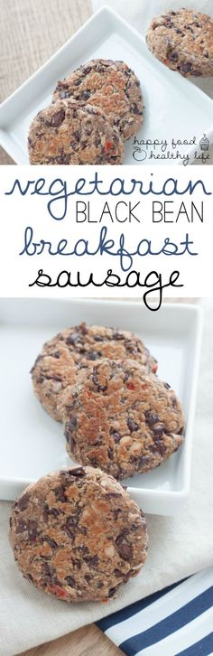 "Vegetarian Black Bean Sausage - Miss sausage on a meat-free diet and don't want to partake in faux-meat soy products? These ""sausage"" patties are perfect for mornings and can be made ahead to freeze! 