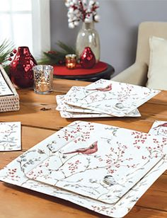 BIRDS AND BRANCHES PAPER TABLEWARE by Design Design Branches, Design Design, Home And Family, Birds, Entertaining, Paper, Tableware, Holiday, Style