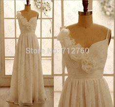 New Cheap Straps White Chiffon Wedding Dresses Bridal Dresses Prom Dresses Under 200 $119