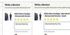 Etsy – When writing a review, the site gently encourages you to the requisite five words and beyond.