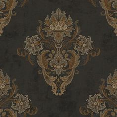 Find wallpaper close-out sale pricing for popular wallpaper patterns online courtesy of Wallpaper Warehouse. Transitional Lighting, Transitional Living Rooms, Transitional Kitchen, Transitional Style, Fabric Wallpaper, Of Wallpaper, Floral, Damasks, Decorative Trim