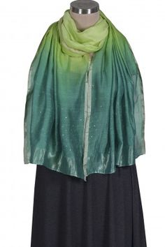 Green Ombre Badla Stole