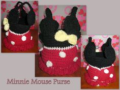 Minniie Mouse Purse  Started with http://www.youtube.com/user/bobwilson123#p/u/170/KTJCixHH8uQ — with Devesh  and tweaked the rest